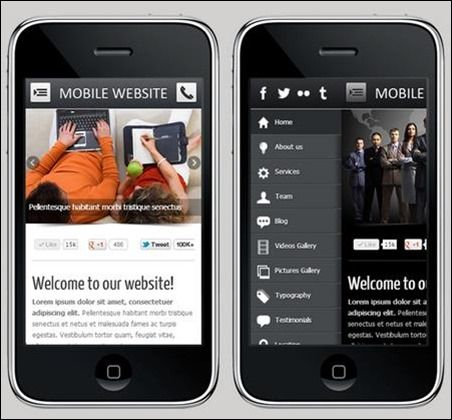 Mobile Website Templates Mobile Web Template  Html5 & Css3  Demo Mobile & Tablet