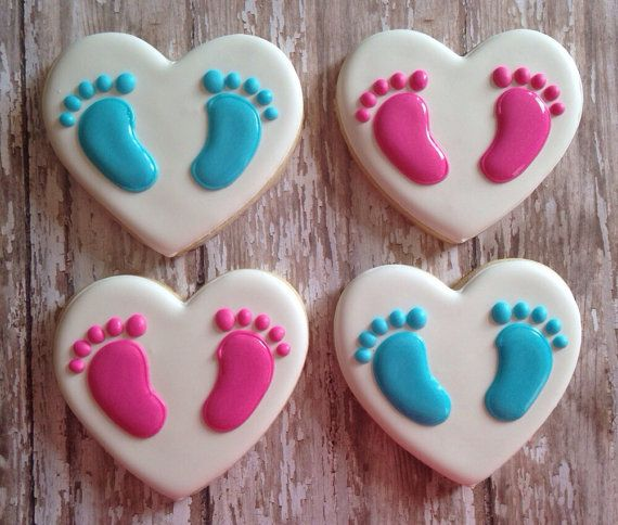 Pitter Patter Baby Feet Cookies Cookies Baby Feet Sugar Cookie