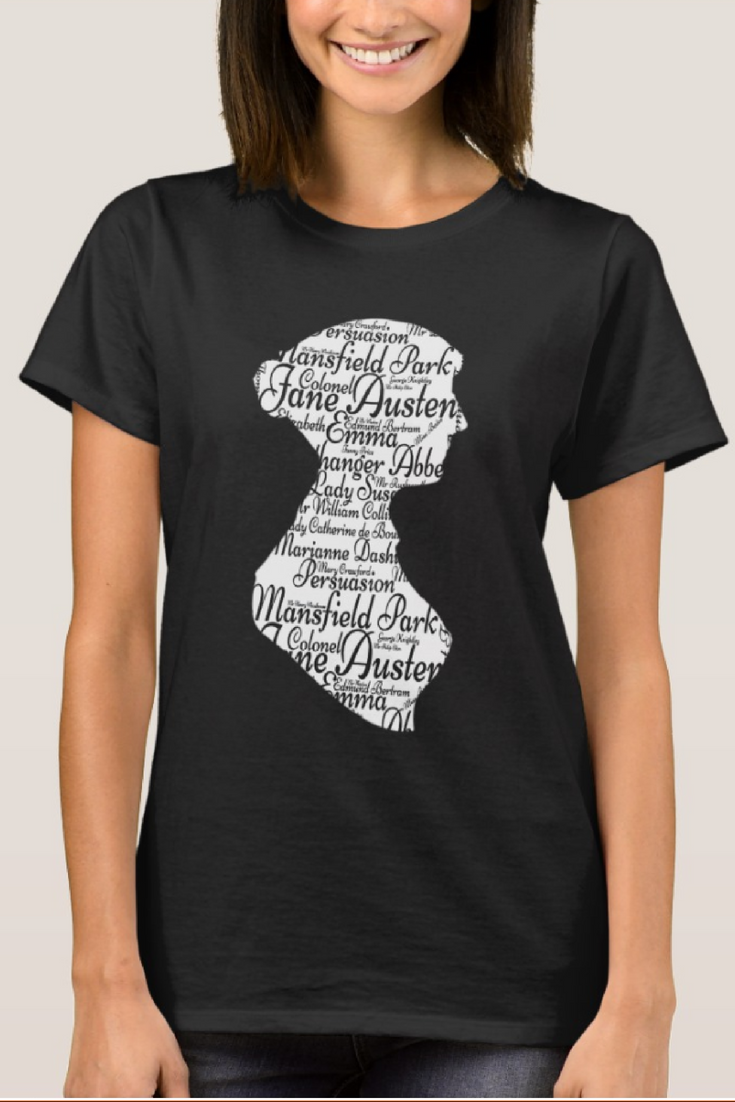 6037a177 An incredibly gorgeous Jane Austen silhouetted word cloud of Jane Austen's  best loved books and characters    jane austen pride and prejudice art  elizabeth ...