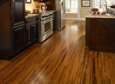 Zebra Strand Bamboo Floors Laminate Flooring In Kitchen