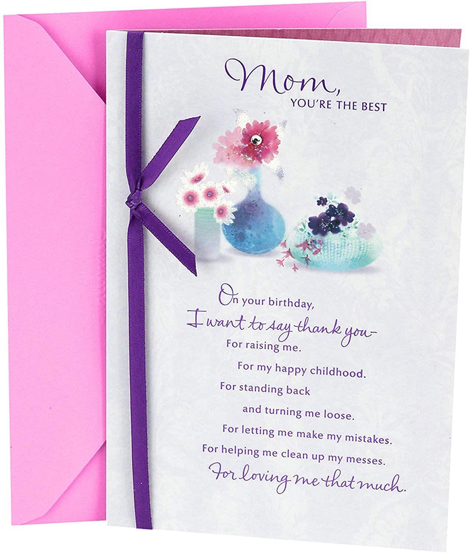 Hallmark Birthday Card For Mom Flowers With Vases Hallmark Birthday Card Birthday Cards For Mother Birthday Cards For Mom