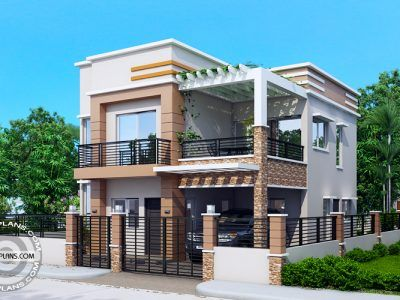 Two story house designs are best fitted for narrow lots for 2 storey house design with roof deck