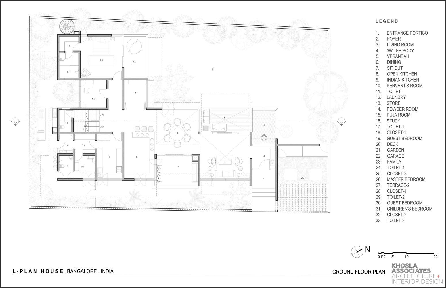 Gallery of l plan house khosla associates 18 house and arch arch malvernweather Image collections