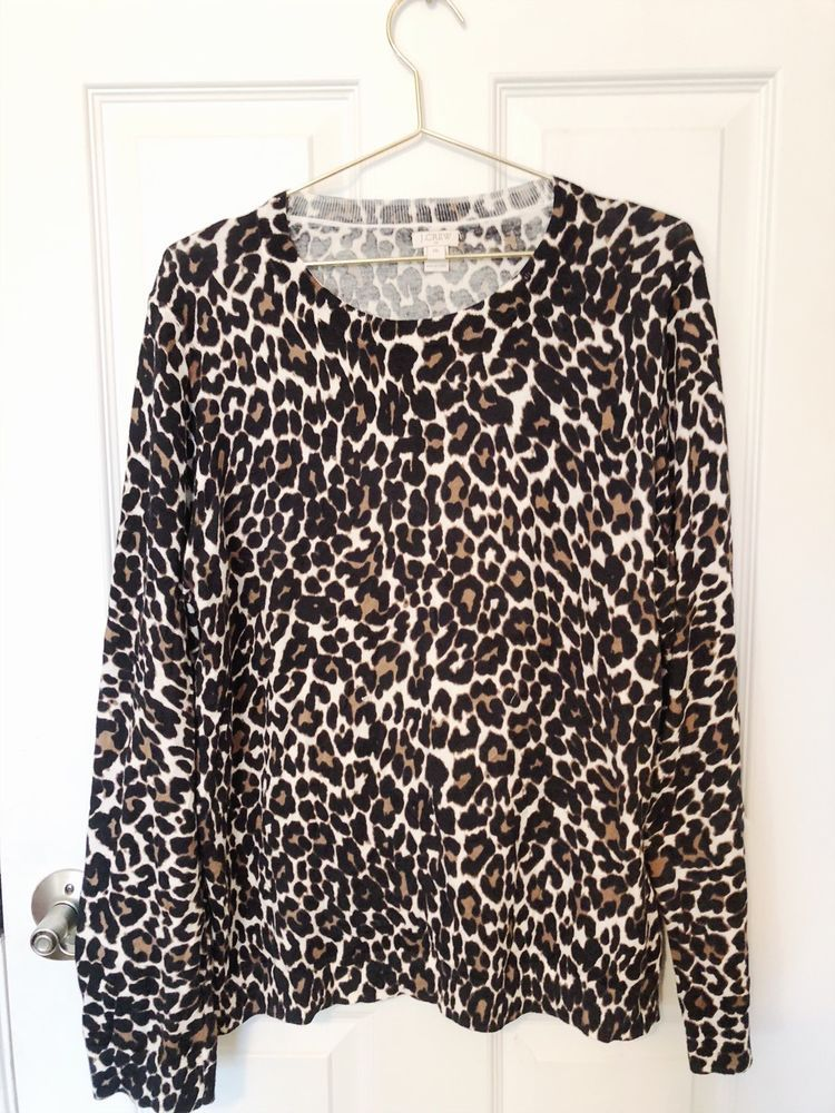 dd465198dc86ac J. Crew Leopard Tippi Sweater XXL  fashion  clothing  shoes  accessories   womensclothing  sweaters (ebay link)