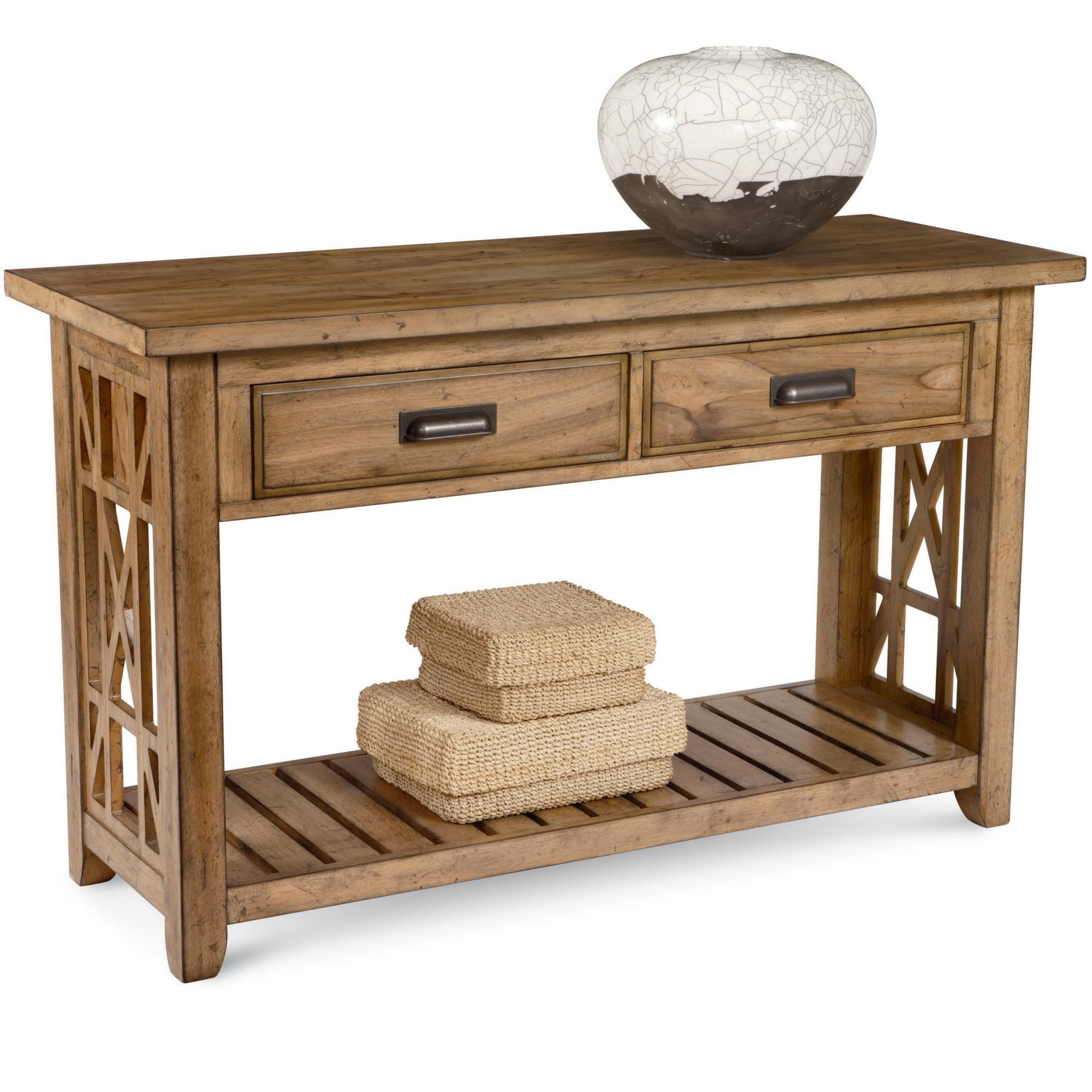 Frasier Console Table With 2 Drawers And Shelf By Broyhill Furniture At John V Schultz Furniture Furniture Broyhill Furniture Console Table