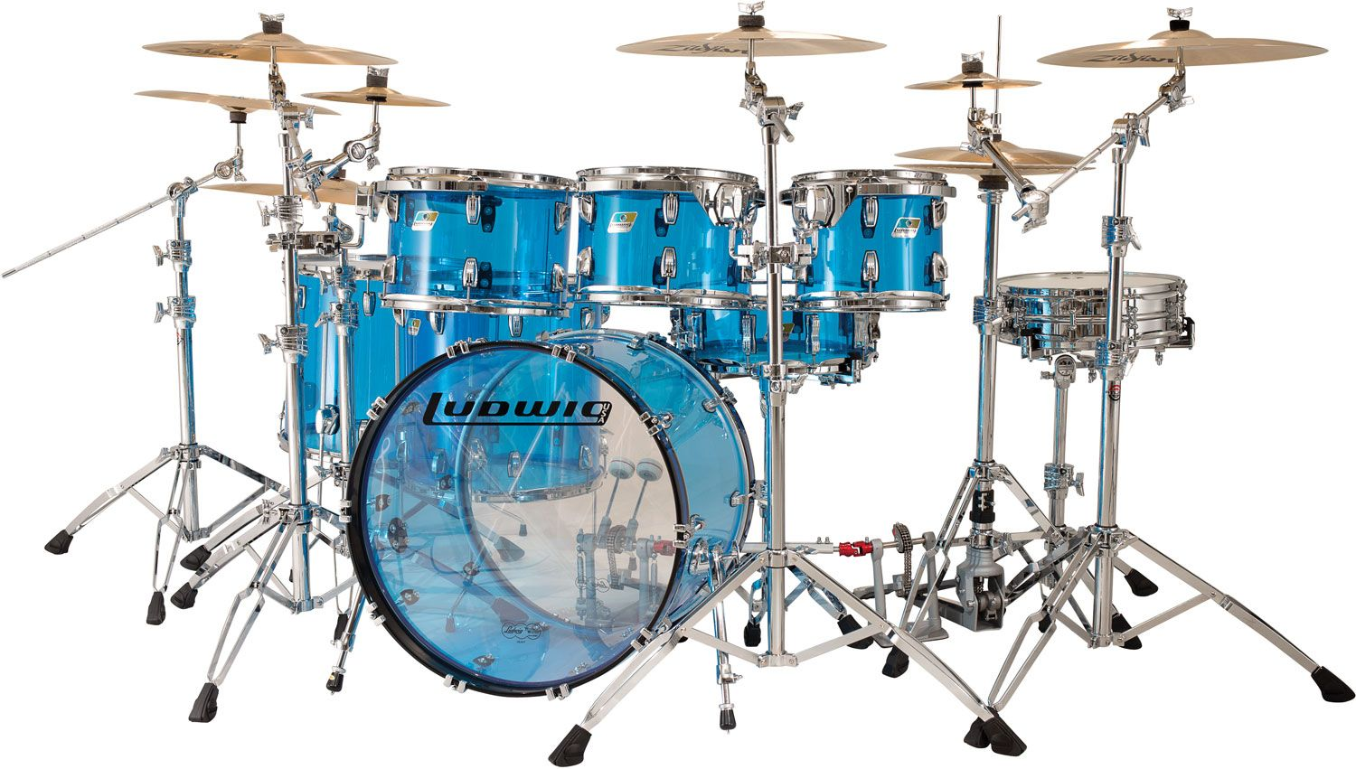 Acrylic Blue Ludwig Drum Set   Cool Drum Sets and Drums ...