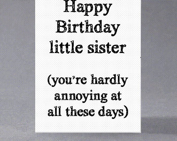 Brother Sister Birthday Card Being Related To Me Us Is Etsy Happy Birthday Little Sister Sister Birthday Card Sister Birthday Quotes