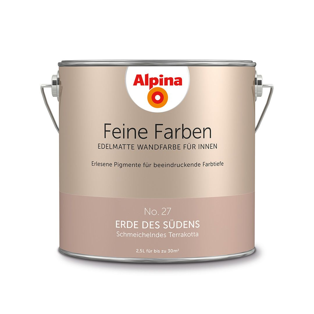 alpina feine farben no 27 erde des s dens design diy farbe einrichten feels like home. Black Bedroom Furniture Sets. Home Design Ideas