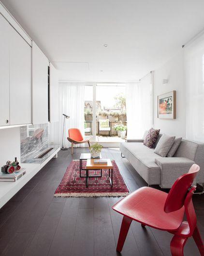 How To Decorate A Long Narrow Room Houzz Contemporary Living