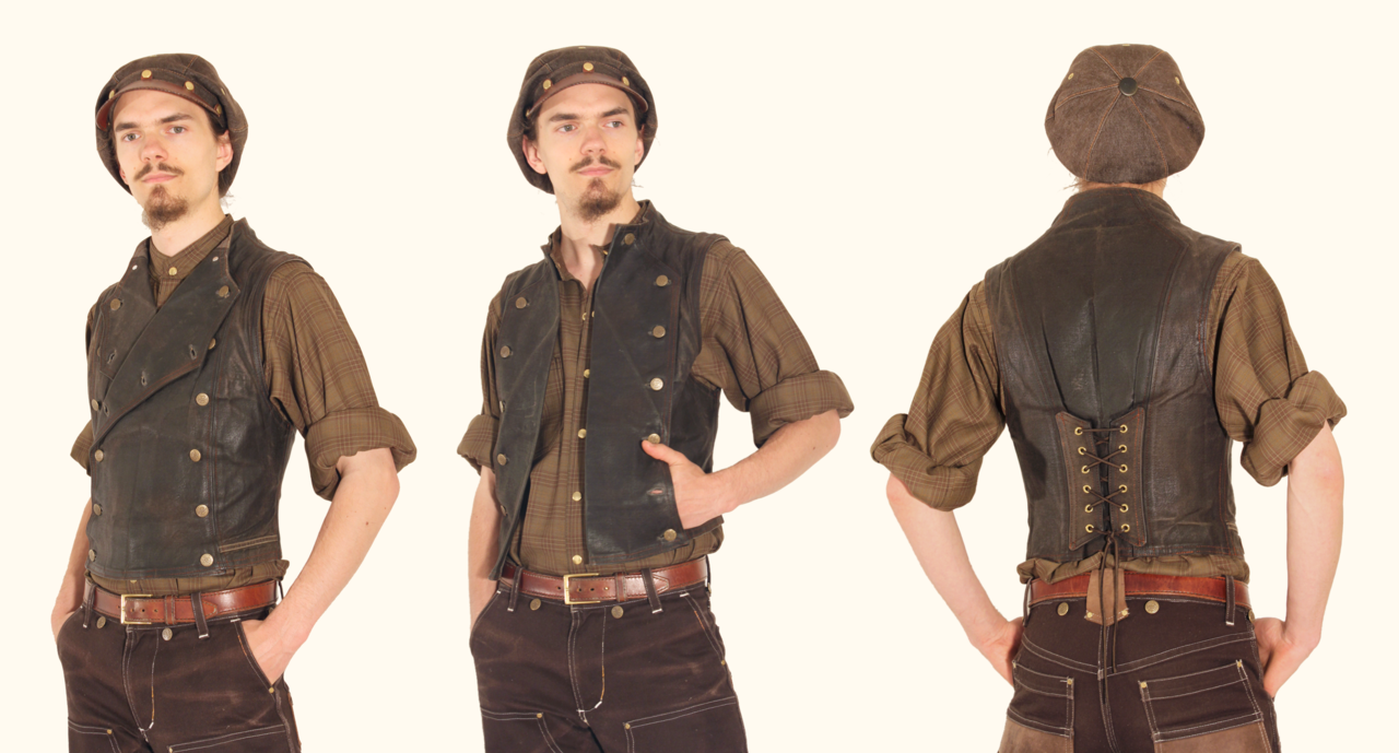 *For Sale* Waxed Journeymans Vest by Marcusstratus.deviantart.com on @deviantART