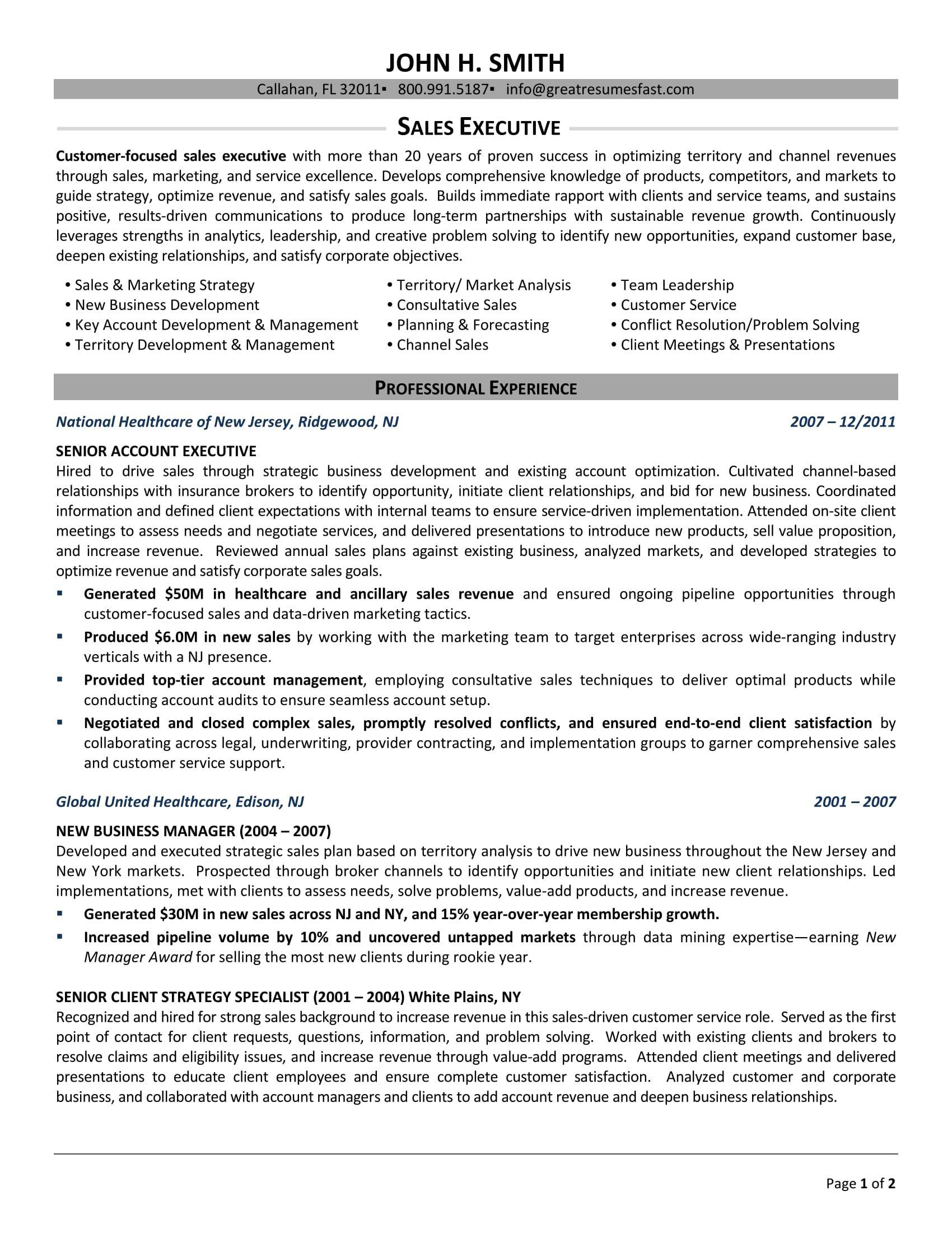 Resume Templates Executive (5) TEMPLATES EXAMPLE
