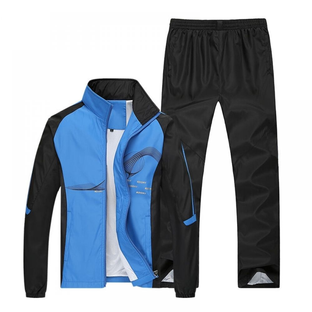 Fieer Mens Running Sports Warm Athletic Autumn Sweatsuit Pants Set
