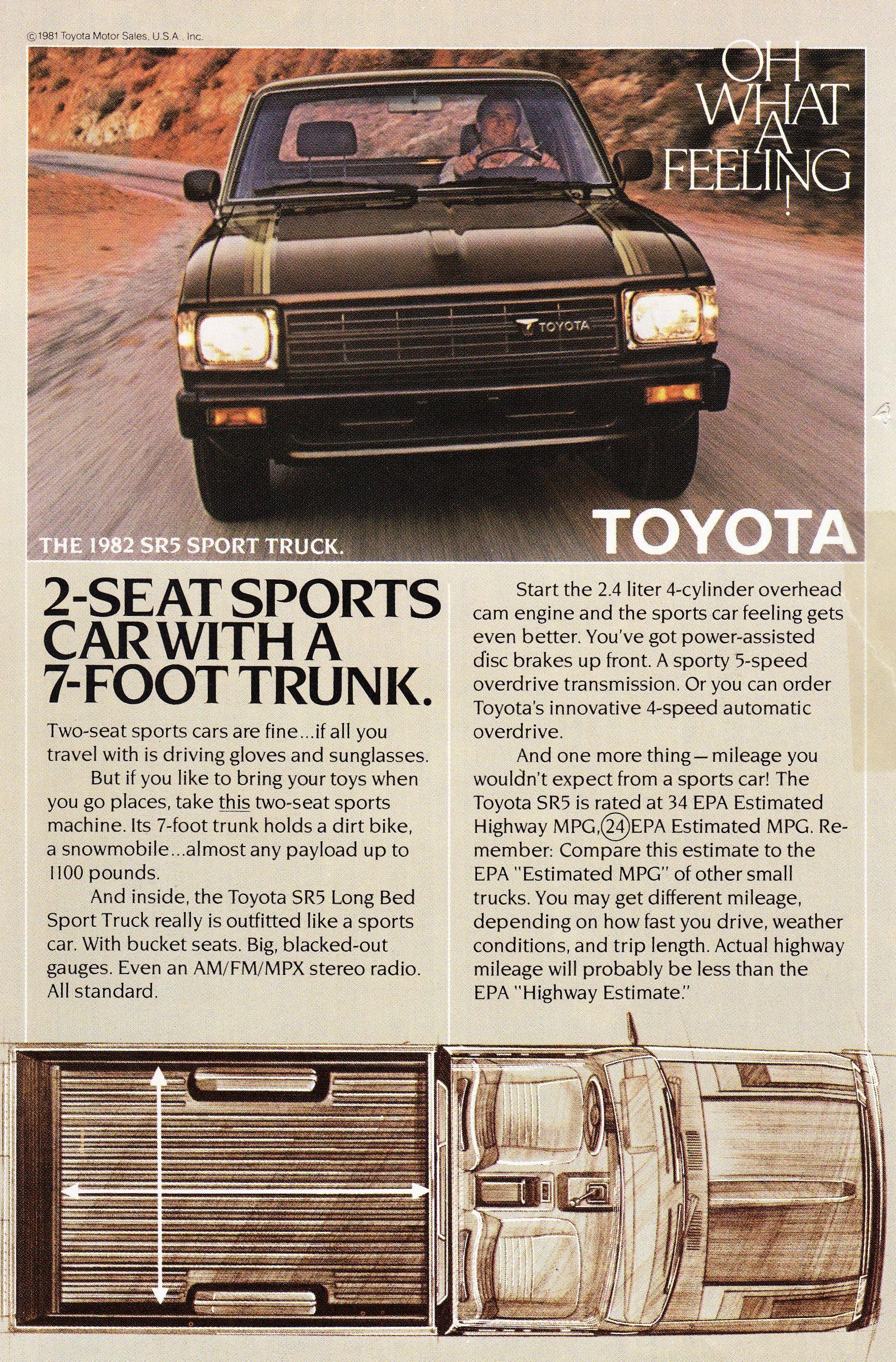 1982 Toyota SR5 Sport Truck. Sport truck, Toyota, Trucks