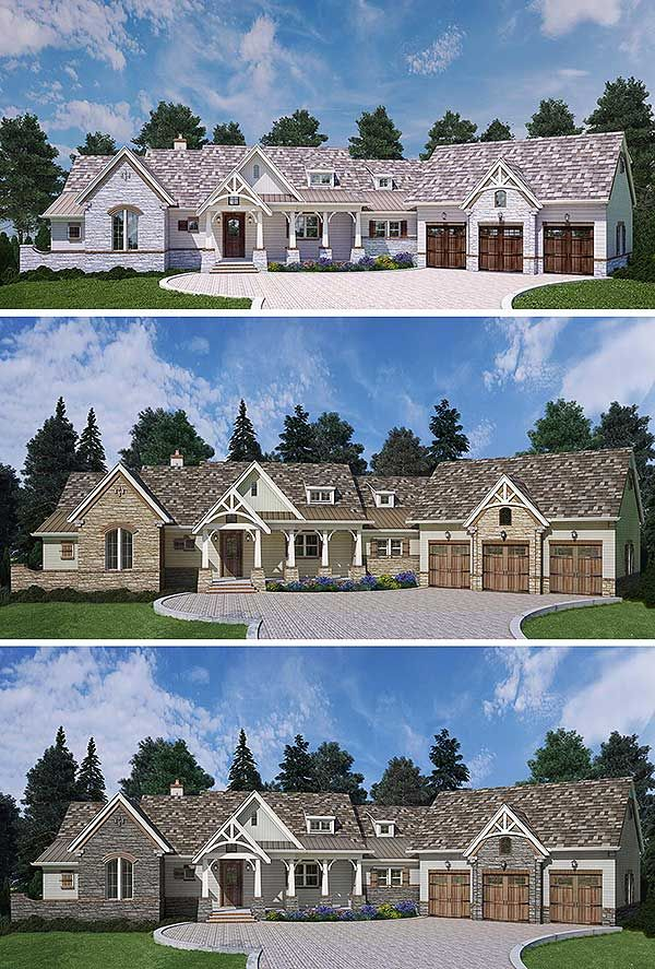 Plan 12279JL: Mountain Ranch With Expansion And Options