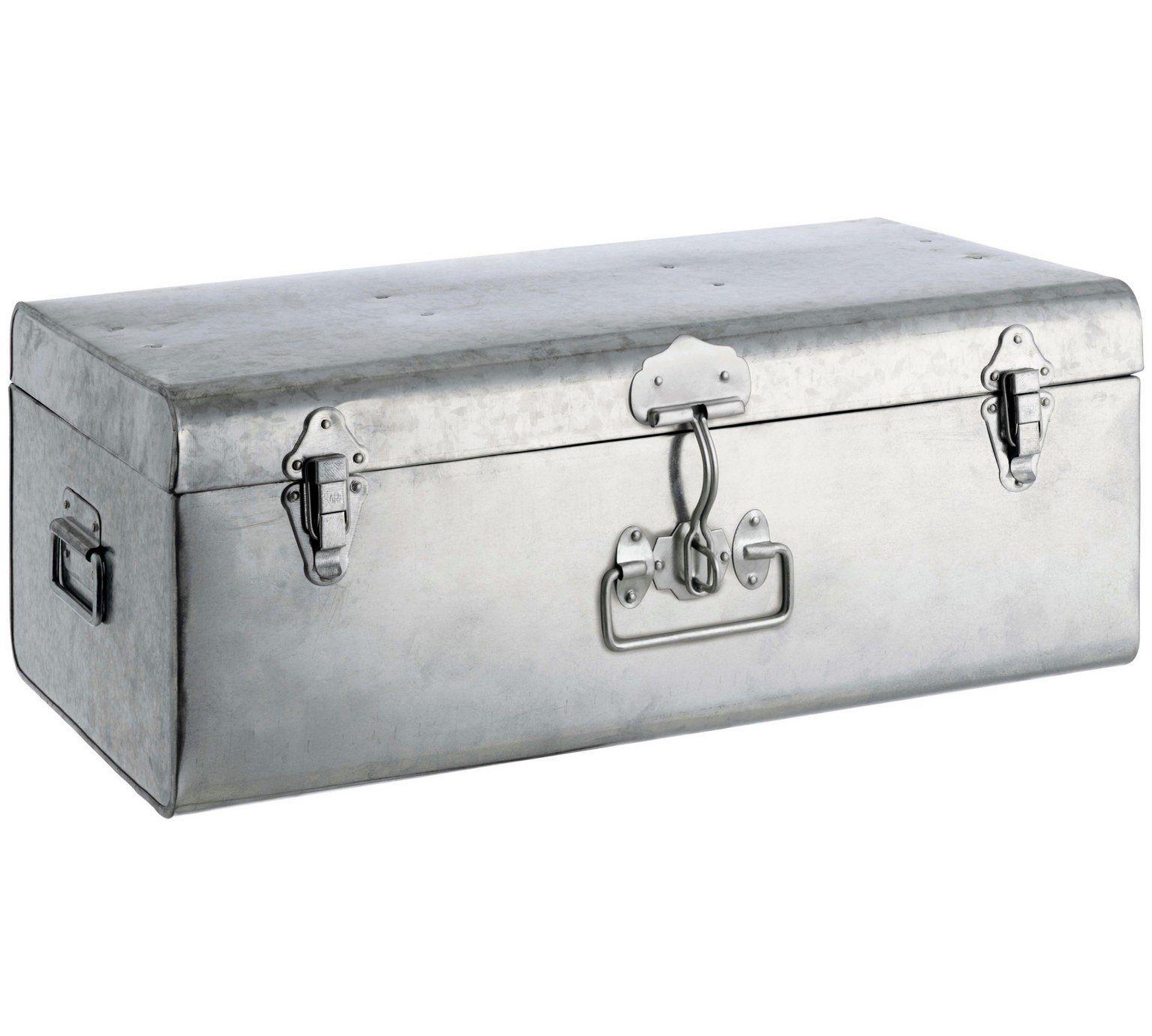 Hallway furniture habitat  Buy Habitat Large Galvanised Trunk  Silver at Argos  Your