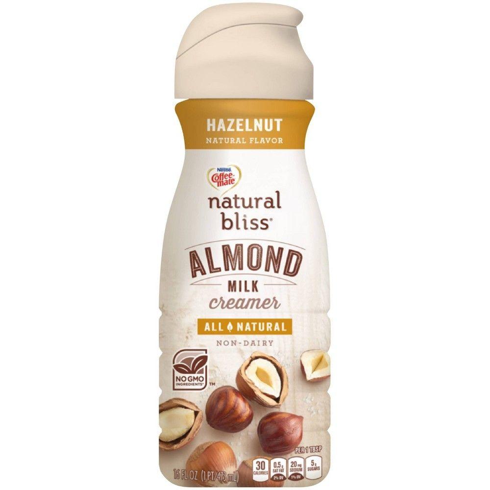 Coffee mate hazelnut almondmilk coffee creamer 1pt