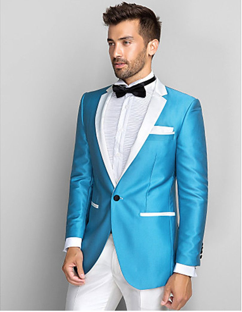 Click to Buy << groom wedding suits shiny stain custom made suit ...