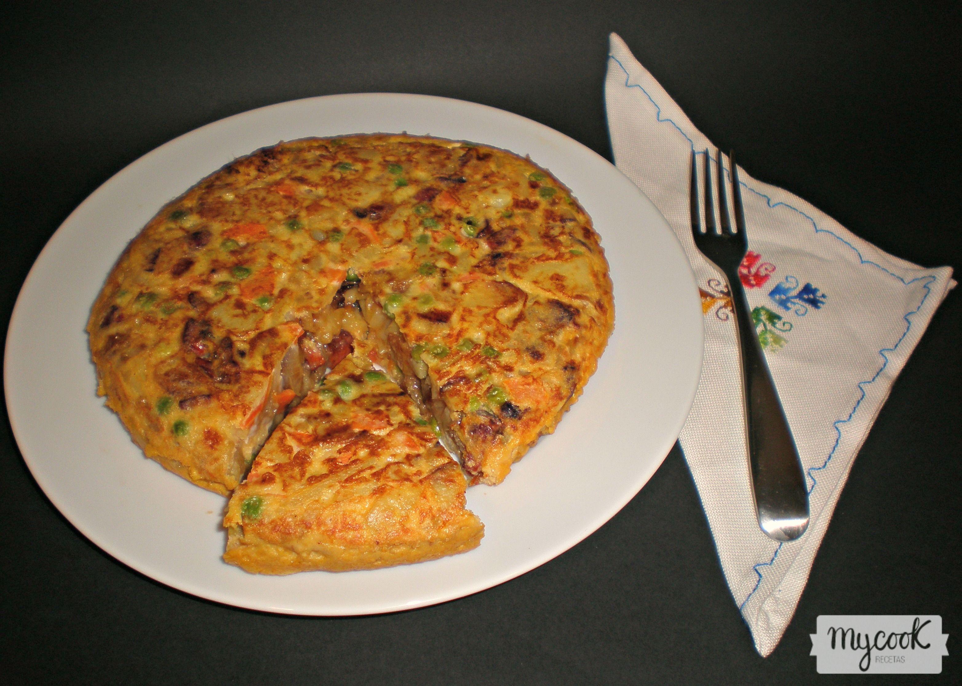 Tortilla paisana - http://www.mycookrecetas.com/tortilla-paisana/