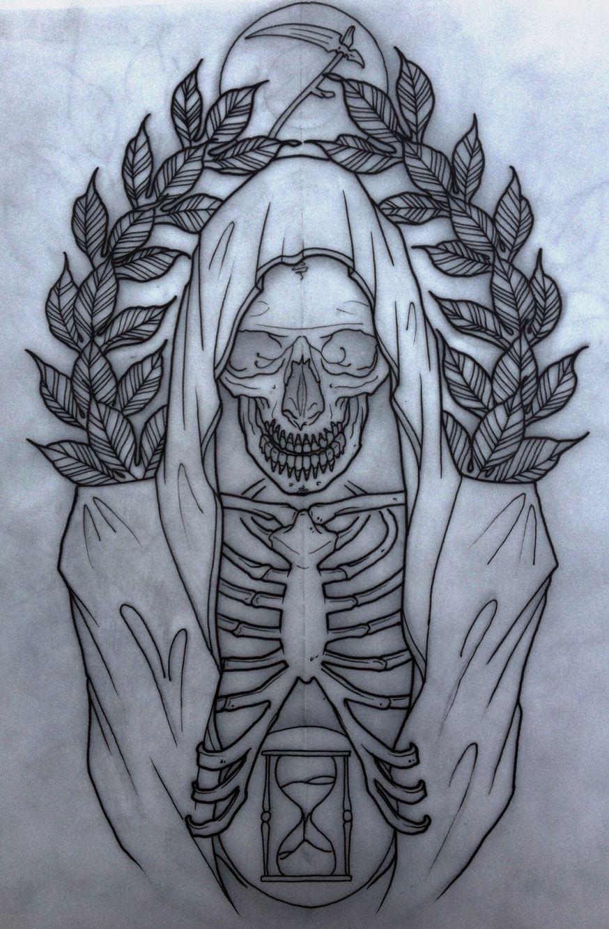 Dessin Representant La Mort grim reaper.   tattoo   pinterest   tatouage, image tatouage et