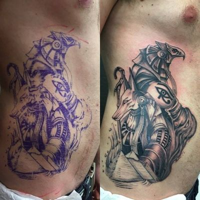 #tattoo #egyptian #egyptiantattoo #anubis #horus # ...