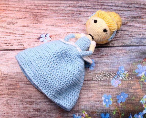 Amigurumis Personajes De Disney : Amigurumi doll disney princess cinderella crochet doll baby shower