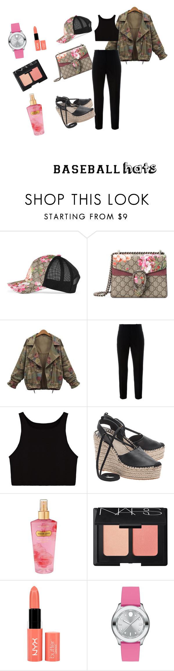 """my style"" by jennve ❤ liked on Polyvore featuring Gucci, Marni, Ash, Victoria's Secret, NARS Cosmetics, NYX, Movado, baseballcap and baseballhats"