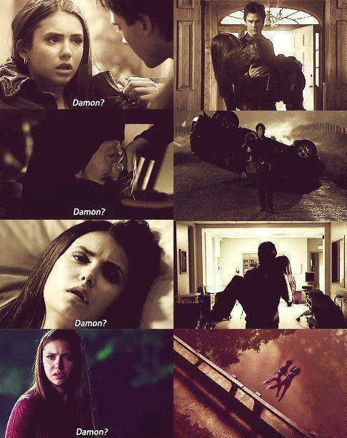 Damon always saves her.
