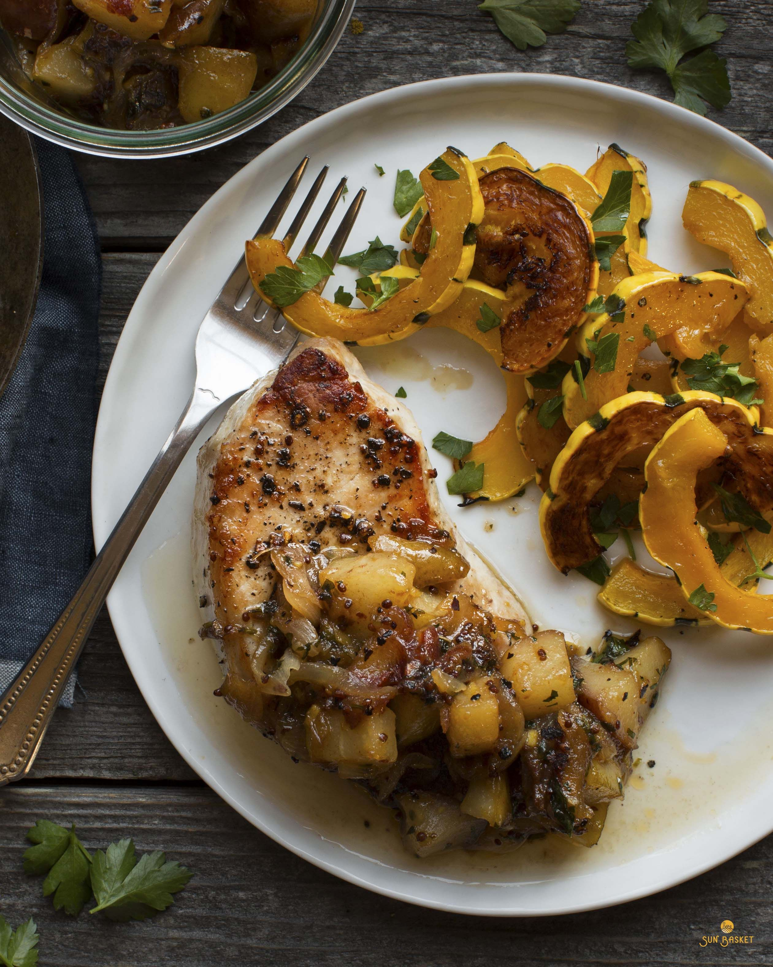 Pork loin with pear-date chutney #paleo #glutenfree #dairyfree #soyfree