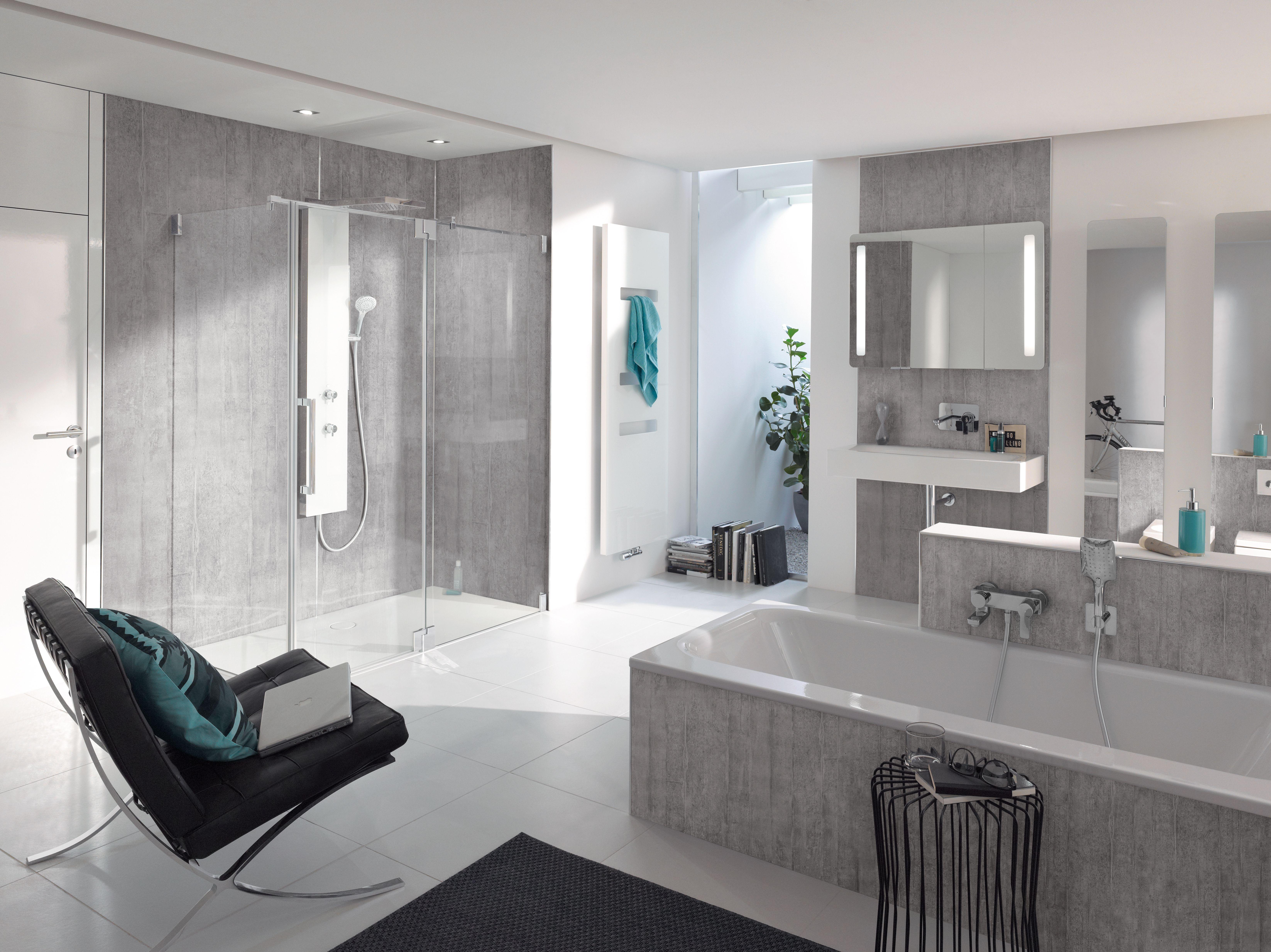 Hsk Duschkabinenbau Renodeco Sichtbeton Lichtgrau Luxusbadezimmer Zimmer Wandgestaltung