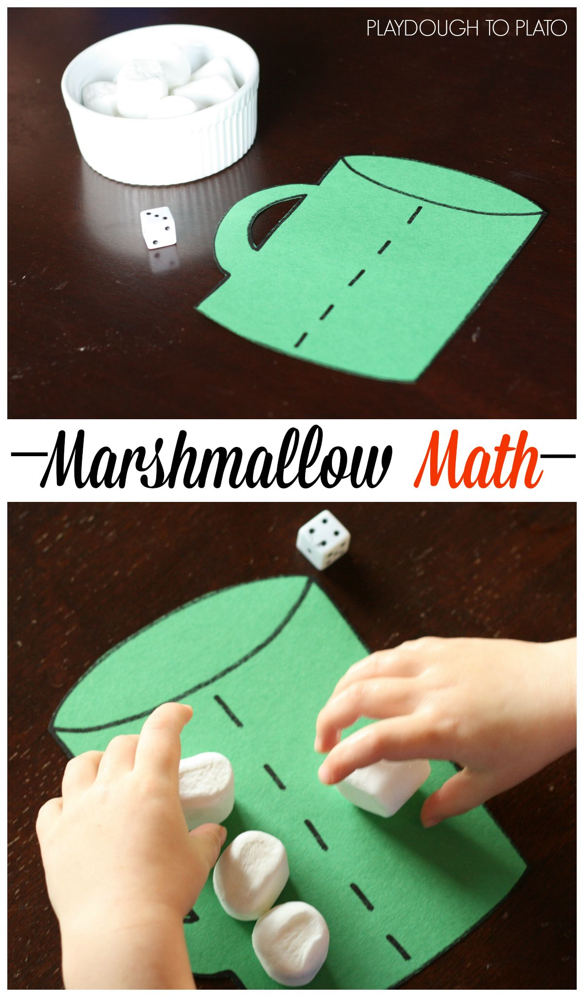 Fun, hands-on number concept and beginning addition game for kids.