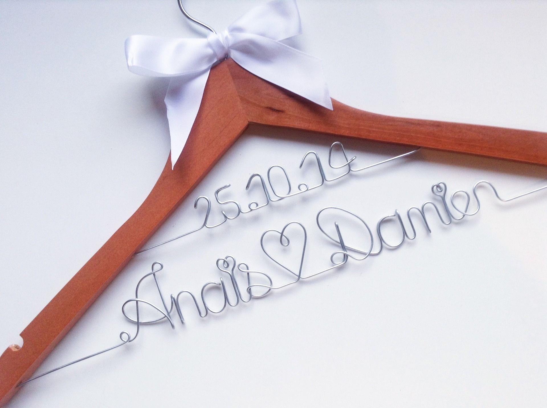 Annonce Témoin Mariage dedans cintre personnalisé deux lignes pour robe de la mariée, cadeau evjf