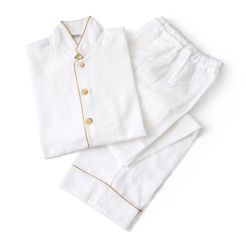 京和晒綿紗 2重ガーゼ パジャマ SSサイズ 11550yen ふわふわのガーゼに包みこまれる優しい2重ガーゼパジャマ