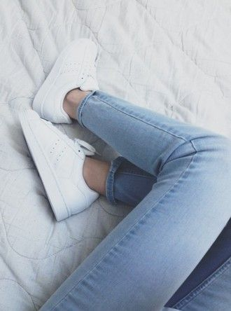 shoes nike white hipster stan smith minimalist shoes jeans adidas  minimalist sneakers lightbleu soft jeans skinny