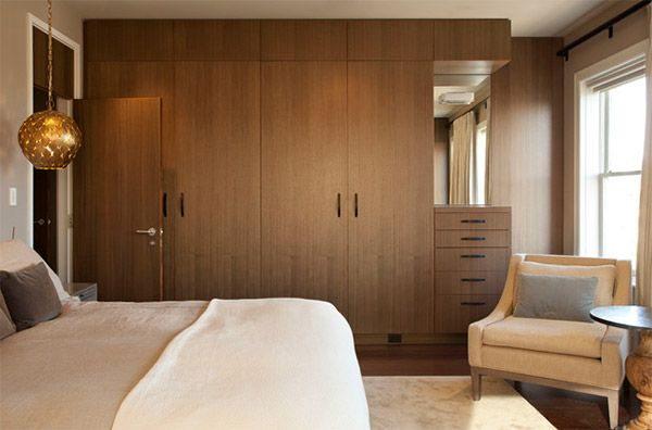 Cool Design 35 Wooden Bedroom Wardrobe Designs