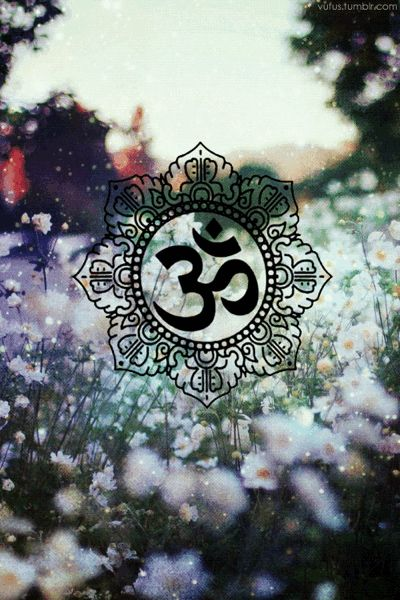 Om Floral Wallpaper Background Lockscreen Namaste Ipod