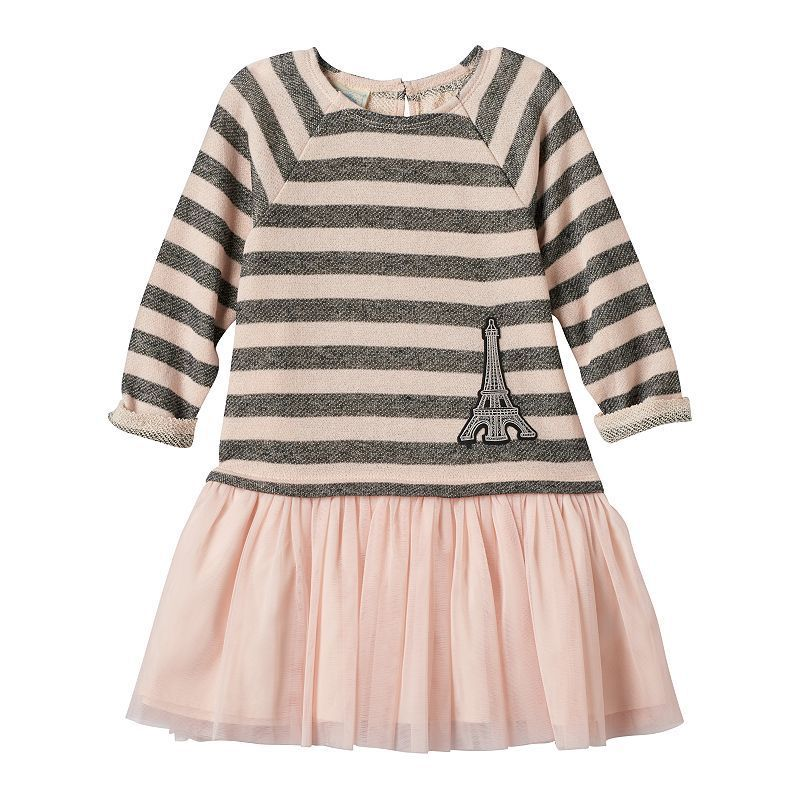 Girls 4-6x Marmellata Classics Striped Eiffel Tower Drop-Waist Tutu Dress, Girl's, Size: