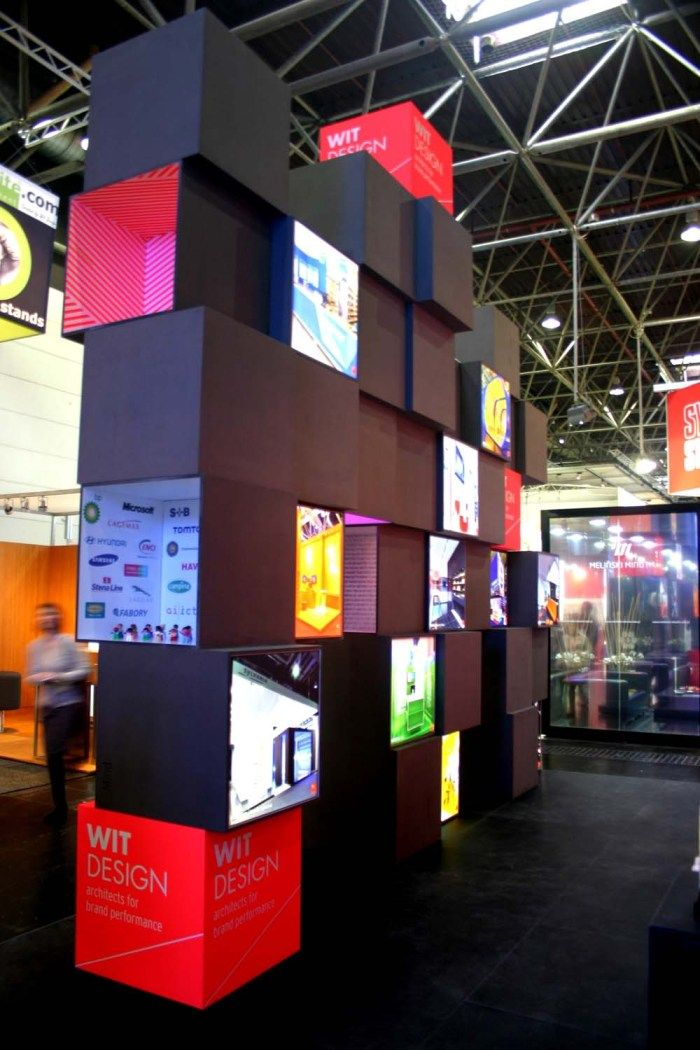 Exhibition Stand Light Boxes : This cube structure is great and could potentially be re