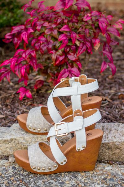 These new White Hot Wedges are everything you need this spring and summer. The neutral design goes with nearly every outfit. When you need a little height boost