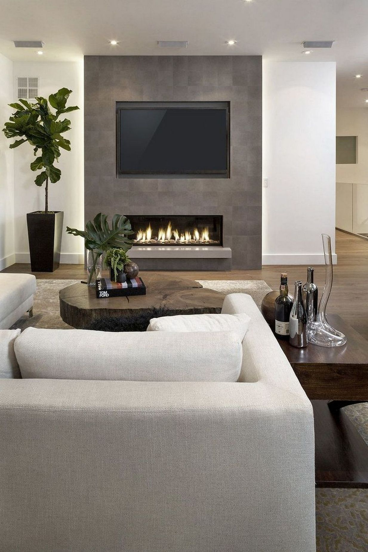 Pin On Living Room #tv #in #living #room #with #fireplace