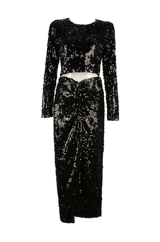63935f675d4 Kendall Jenner Michael Kors Wearing Shimmery Dress