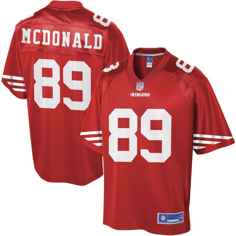 Youth San Francisco 49ers Vance McDonald NFL Pro Line Team Color Jersey 436a4b8a3