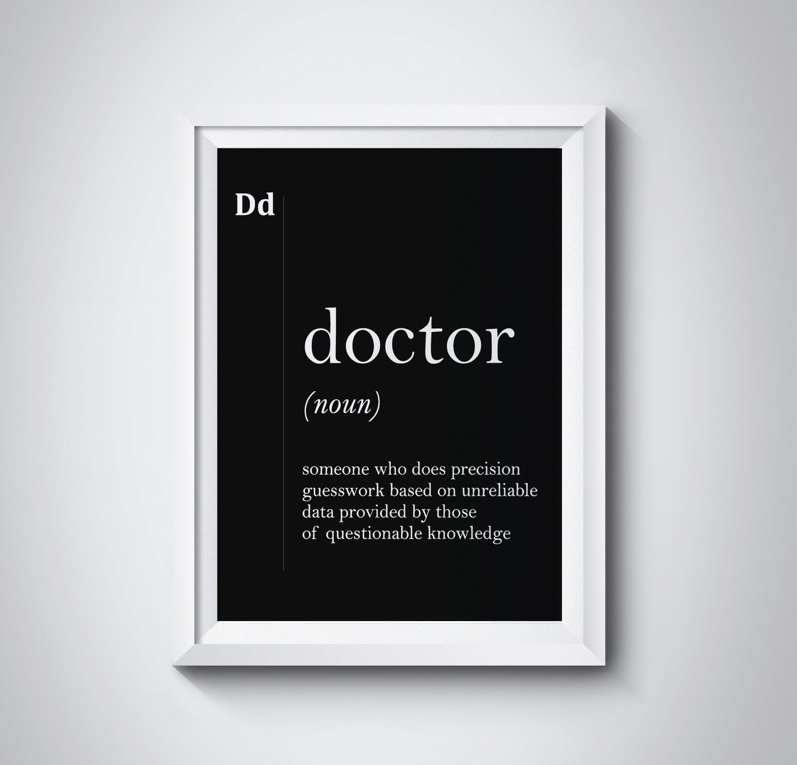 Doctor Definition, Gift For Doctor, Doctor Office Decor