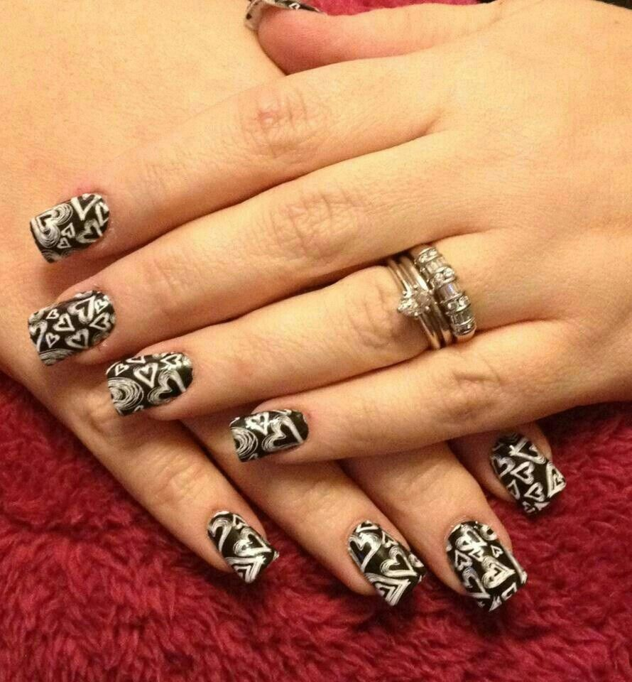 Chalkboard Hearts Jamberry Nail Wraps. Ditch the messy nail art pens ...