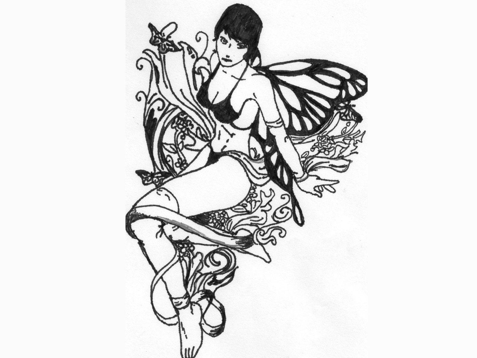free designs black white celtic fairy tattoo wallpaper fairy tattoos pinterest tattoo. Black Bedroom Furniture Sets. Home Design Ideas
