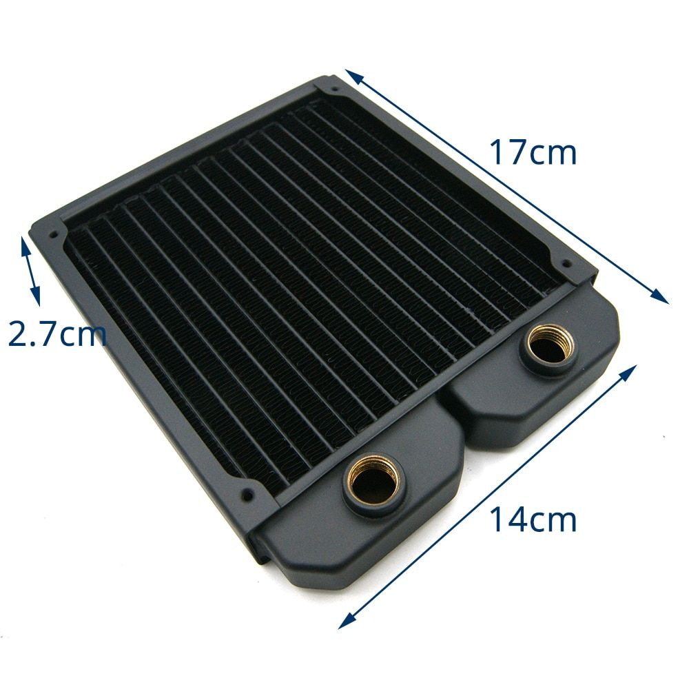 Water Cooling Radiator Copper Liquid Cold Row 140 280 420 For