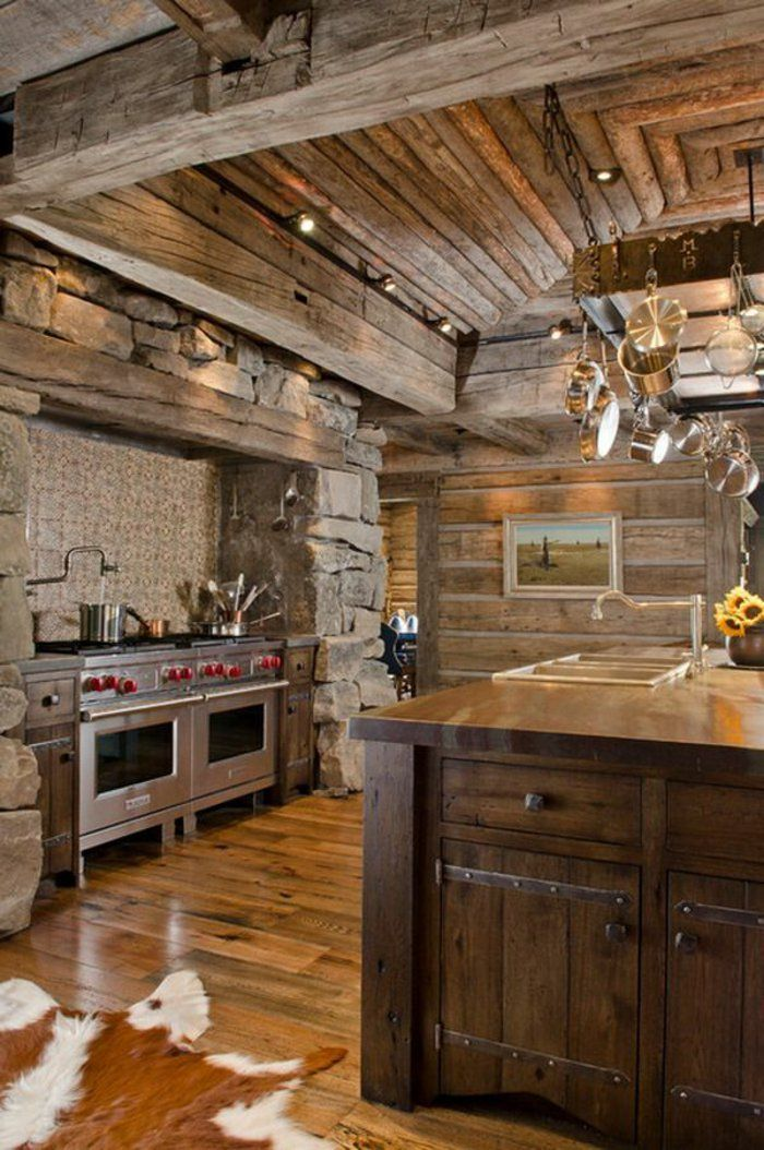 La cuisine en bois massif en beaucoup de photos deco log home kitchens rustic kitchen - Cuisine deco design ...