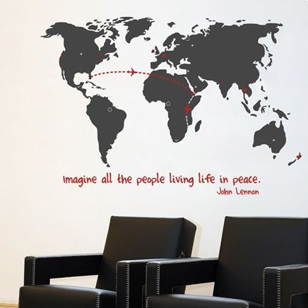 Miau0026co World Map Giant Transfer Wall Decals   Wall Sticker Outlet