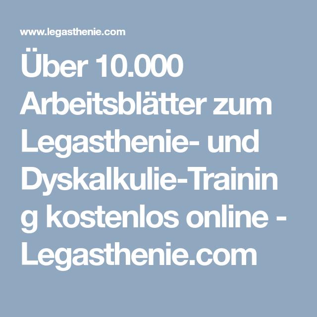Über 10.000 Arbeitsblätter zum Legasthenie- und Dyskalkulie-Training ...