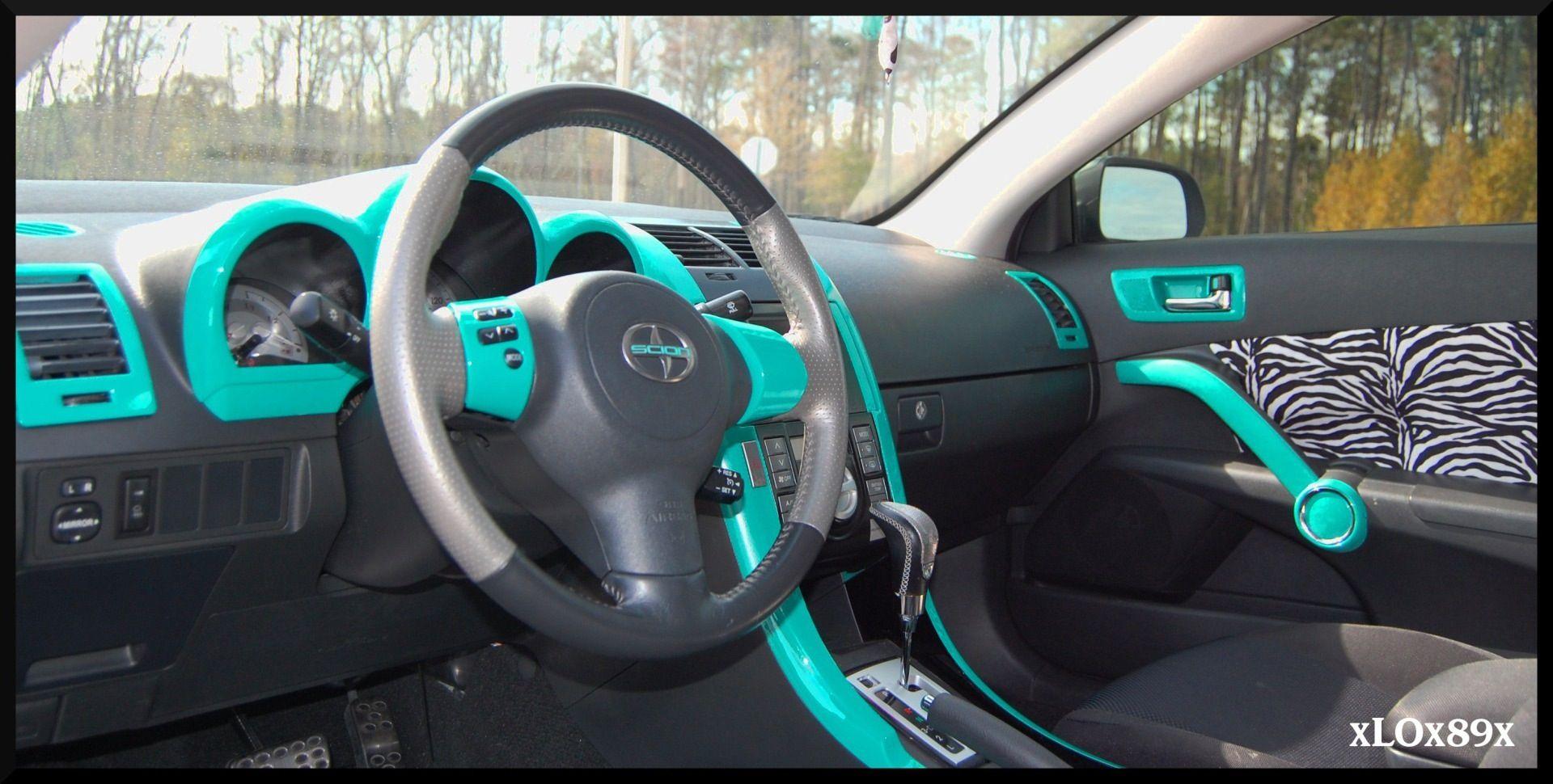 Turquoise Interior But Camo Instead Of Zebra Truck