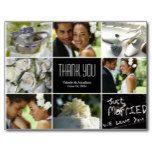 Wedding Collage Thank You Postcard